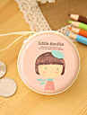 Travel Metal Cartoon Girl Pattern Change Headphones Storage Box