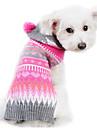Chien Pull Vetements pour Chien Rayure Laineux Costume Pour les animaux domestiques Homme Femme Mignon Garder au chaud