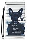 Huelle Fuer Samsung Galaxy S7 edge S7 Kreditkartenfaecher Geldbeutel mit Halterung Ganzkoerper-Gehaeuse Hund Hart PU-Leder fuer S7 edge S7 S6 S5