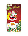 Coque Pour Apple iPhone X iPhone 8 Plus iPhone 7 iPhone 6 Coque iPhone 5 Motif Coque Arriere Noel Flexible TPU pour iPhone X iPhone 8