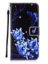 용 지갑 / 카드 홀더 / 스탠드 / 플립 케이스 뒷면 커버 케이스 버터플라이 하드 인조 가죽 용 Apple 아이폰 7 플러스 / 아이폰 (7) / iPhone 6s Plus/6 Plus / iPhone 6s/6 / iPhone SE/5s/5