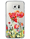 For Samsung Galaxy S7 S7 Edge Flowers Pattern Soft Ultra-thin TPU Back Cover S4 S5 S6 S6 Edge S6 Edge Plus