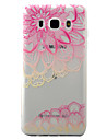 For Samsung Galaxy J5 J3 (2016) Case Cover Pink Lotus Pattern Painted TPU Material Phone Case