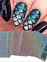 24 pcs Portable / Geometric Pattern / Nail Decals Foil Sticker Nail Art Tool