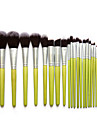 23Pcs Makeup Brush  Set Green Bamboo Handle Environmental Nylon Hair Beauty Makeup Tools