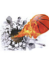 3D Wall Stickers Wall Decals Style New Basketball PVC Wall Stickers
