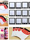 10pcs Трафарет для маникюра Руководство по французским советам Шаблон шаблона для ногтей Повседневные Мода Высокое качество