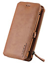 For Samsung Galaxy Note 5 Card Holder Wallet with Stand Case Full Body Case Solid Color Hard Genuine Leather Note 4 Note 3