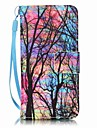 Color Tree Painting PU Phone Case for apple iTouch 5 6 iPod Cases/Covers