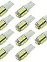 10pcs سيارة لمبات الضوء SMD 5050 LED الضوء الخلفي / مصباح الباب / ضوء جانبي محدد