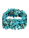 Women\'s Crystal Chain Bracelet - Crystal, Turquoise Unique Design, Fashion, Birthstones Bracelet Blue For Birthday Gift Daily
