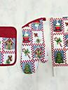 1pc Pocket Mitten, 1pc Oven Glove, 1pc Towel Текстиль рукавицыДля торта / Для пиццы / Для шоколада / Для получения хлеба / Для Cookie /