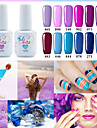 Vernis Gel UV 15ml 1picec Paillettes Gel de Couleur UV Faire tremper Longue Duree