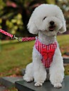 Classic Check Countryside Style Harness with 120cm Leash for Pets Dogs(Assorted Sizes and Colours)
