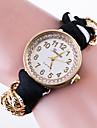 Femme Montre Tendance Bracelet de Montre Quartz / Tissu Bande Pois Fleur Pour tous les jours Noir Blanc Rouge Rose Bleu marine Rouge Rose