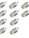 10pcs 1W 200lm G4 LED Bi-pin Lights T LED Beads High Power LED Warm White Cold White 12V