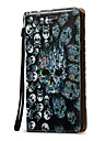 Case For Samsung Galaxy Card Holder Wallet Flip Full Body Cases Skull Hard PU Leather for Note 5 Note 4 Note 3