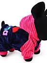Собака Толстовки Одежда для собак Хлопок Зима Весна/осень На каждый день Сохраняет тепло Буквы и цифры Синий Розовый Костюм Для домашних