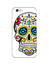 For iPhone 6 Case / iPhone 6 Plus Case Ultra-thin / Pattern Case Back Cover Case Skull Soft TPU iPhone 6s Plus/6 Plus / iPhone 6s/6