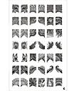 42 Pattern Stamp Nail Art Stamping Prata Modelo da Imagem