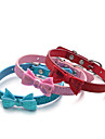 Dog Collar Adjustable / Retractable Sequins Solid PU Leather Red Blue Pink