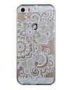 Для Кейс для iPhone 5 Прозрачный / С узором Кейс для Задняя крышка Кейс для Кружевной дизайн Твердый PC iPhone SE/5s/5