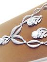 Femme Set de Bijoux Mariee Zircon Goutte Colliers decoratifs Boucles d\'oreille Pour Mariage Soiree Cadeaux de mariage