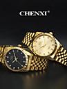 CHENXI® 남성용 드레스 시계 손목 시계 패션 시계 석영 일본 쿼츠 모조 다이아몬드 스테인레스 스틸 밴드 골드