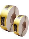 500pcs instrumentos de manicure suporte de papel papel quadrado extensao acrilicos papel fototerapia estender um pacote