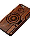 capa dura da camera da madeira de pera para iphone 6 / 6s capas iphone
