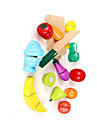 مجموعات لعبة مطبخ لعب تمثيلي نباتي فاكهة حداثة خشبي للصبيان للفتيات ألعاب هدية