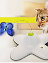 Cat Toy Pet Toys Interactive / Teaser Electronic Butterfly Plastic White