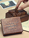 28pcs Wooden Wood Party Office / Career Stamps Stamp Blocks