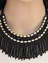 Women\'s Collar Necklace Statement Necklace  -  Tassel Fashion European Gray Blue Rainbow Necklace For Party