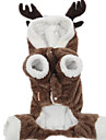 Dog Coat Dog Clothes Cute Solid Brown