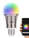 6.5W E26/E27 Умная LED лампа A60(A19) 8 светодиоды Высокомощный LED Bluetooth Декоративная Тёплый белый Холодный белый Естественный белый