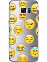 Coque Pour Samsung Galaxy S7 edge S7 Ultrafine Transparente Motif Coque Bande dessinee Flexible TPU pour S7 edge S7 S6 edge plus S6 edge