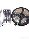 5m Light Sets 300 LEDs 5050 SMD RGB Remote Control / RC / Cuttable / Dimmable 12 V / IP65 / Waterproof / Linkable / Suitable for Vehicles / Self-adhesive