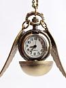 Men\'s Necklace Watch Pocket Watch Dress Watch Quartz Alloy Band Vintage Gold