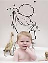 사람 정물 Leisure 벽 스티커 플레인 월스티커 데코레이티브 월 스티커, 비닐 홈 장식 벽 데칼 유리 / 욕실