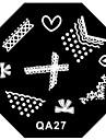 1 pcs Штамповка плиты шаблон Стиль / Мода Дизайн ногтей Модный дизайн Повседневные
