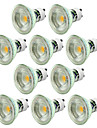 10pcs dimmable 5w 550-650lm gu10 led projecteur torchis chaud / froid blanc ac220-240v