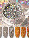 3g holo gold silver glitter powder laser paillette nail dust powder manicure nail art sequins decorations