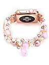 Jade agate perl perles bracelet a la main bijoux faits a la main pour apple watch iwatch 38mm 42mm