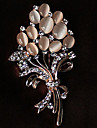 Brooches Rhinestone Flower Style Flowers Floral Rhinestone Opal Alloy Flower Jewelry For Party Casual