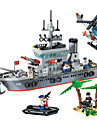 ENLIGHTEN 820 Blocos de Construir Brinquedos Brinquedos de Montar Brinquedos Barco de Guerra Navio Militar Faca Voce Mesmo Plastico