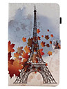 Case For Samsung Galaxy Tab A 9.7 Tab A 8.0 Card Holder with Stand Flip Pattern Full Body Cases Eiffel Tower Hard PU Leather for Tab E