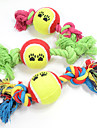 Cat Toy Dog Toy Pet Toys Ball Chew Toy Interactive Teeth Cleaning Toy Cartoon Rope Elastic Footprint Tennis Ball Nobbly Wobbly Woven