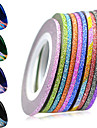 1set 12rolls Fashion Foil Stripping Tape Daily