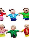 핑거 퍼펫 장난감 노블티 면 6 조각